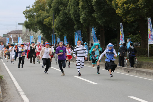 萌フェス「萌輪ぴっく」コスプレマラソン 久喜マラソン