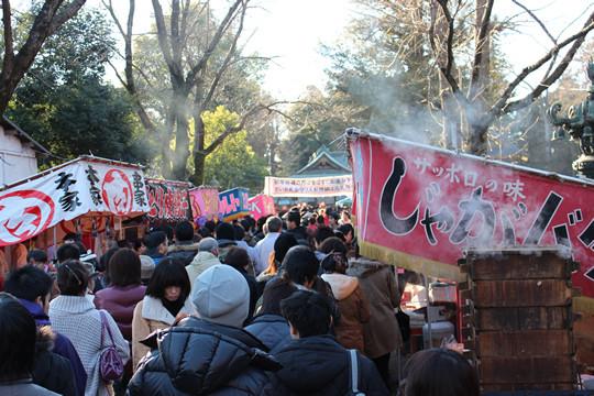 鷲宮神社境内の参拝列2013年