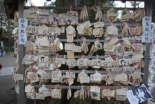2012年1月4日の鷲宮神社絵馬掛け所