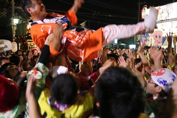 土師祭2014 胴上げ