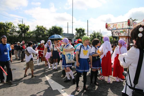 土師祭2014 コスプレパレード準備