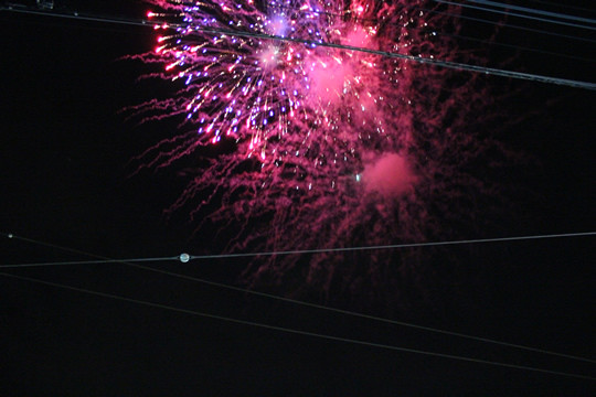 土師祭終了の花火