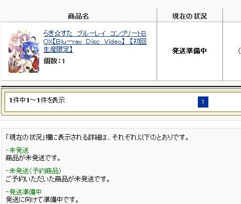 らき☆すたブルーレイBOX発送準備中