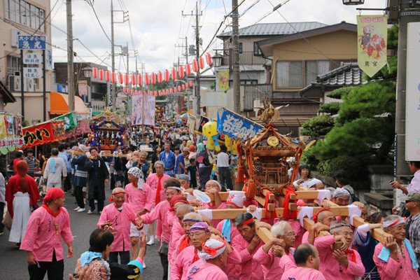 土師祭2014 練り歩く子供神輿