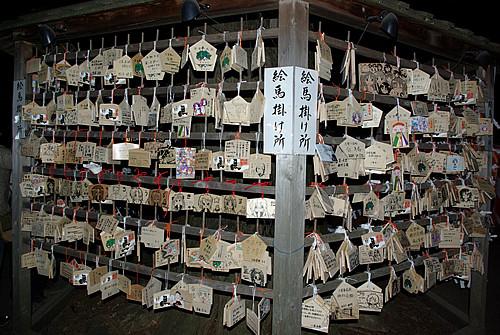 2012年1月1日夕方の鷲宮神社絵馬掛け所