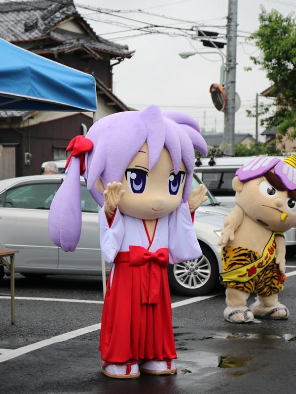 着ぐるみ「かがみん」登場! 柊姉妹誕生日2014 7月7日
