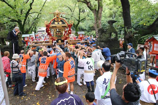 土師祭2014 千貫神輿渡御開始