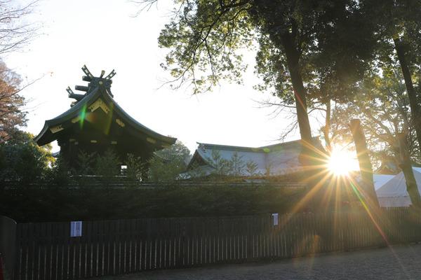 鷲宮神社2019年初売り-初日の出