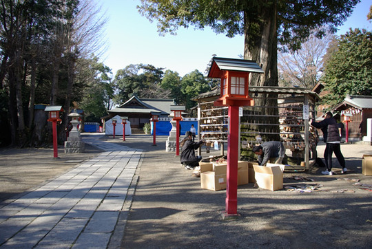 鷲宮神社の絵馬外し