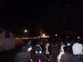 鷲宮神社 2010年1月1日初詣の列