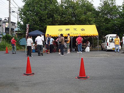 神社駐車場テント