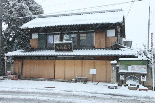 雪の鷲宮神社 大酉茶屋前