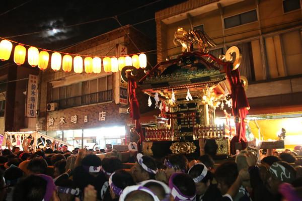 土師祭2014 月と千貫神輿