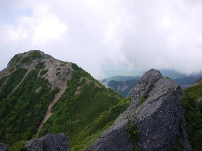 山頂から編笠山