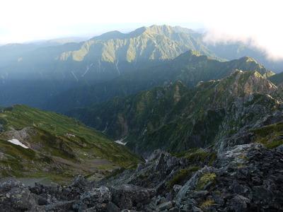 剱岳山頂より後立山連邦