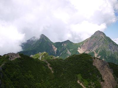山頂から赤岳方面