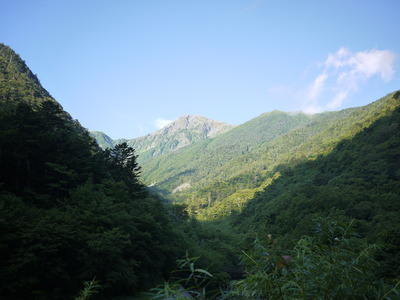 広河原バス停からの北岳