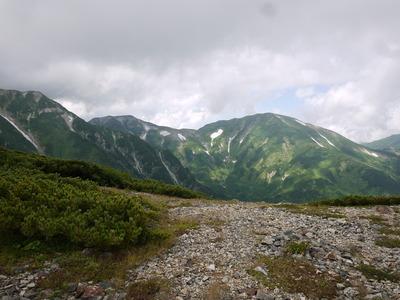 小蓮華稜線から雪倉岳