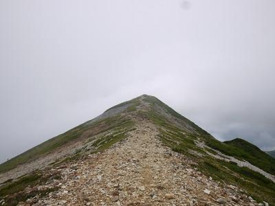 小蓮華山へ続く道