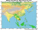 MODIS20100124_1KM_FIRE