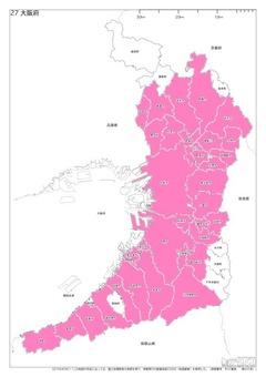 白地図大阪府