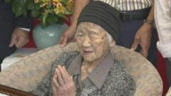 世界最高齢116歳女性をお祝い 今もかけ算や割り算に励む