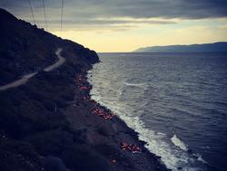 ギリシャレスボス島難民