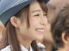 TBS宇垣美里アナ キスマークで1日署長 パンチラ対策に防護服