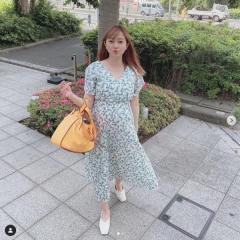菊地亜美、妊娠7ヶ月の姿に反響の声と心配の声が続出