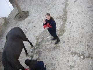 闘牛場の女の子