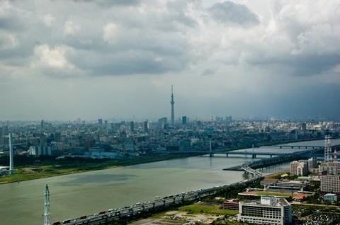 空からの川の風景