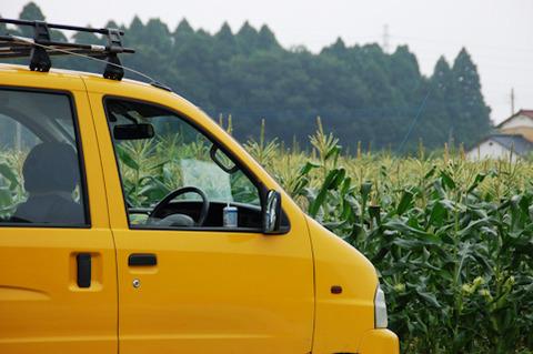 黄色いトラック