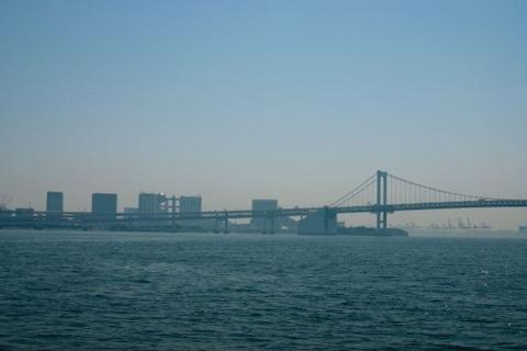 海から見た町並み