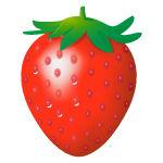 つやつやしたイチゴ
