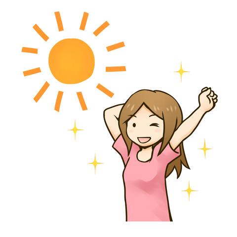 太陽と女の子