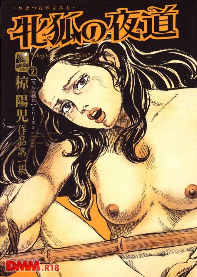 椋陽児の官能劇画「牝狐の夜道」の表紙