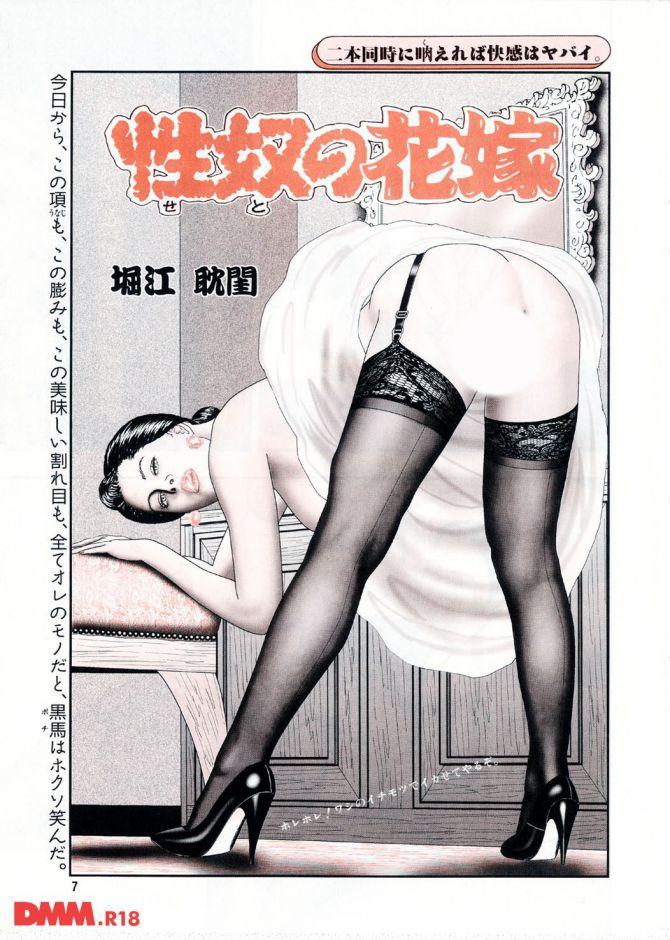 堀江耽閨さんのエロ漫画「性奴の花嫁」の表紙