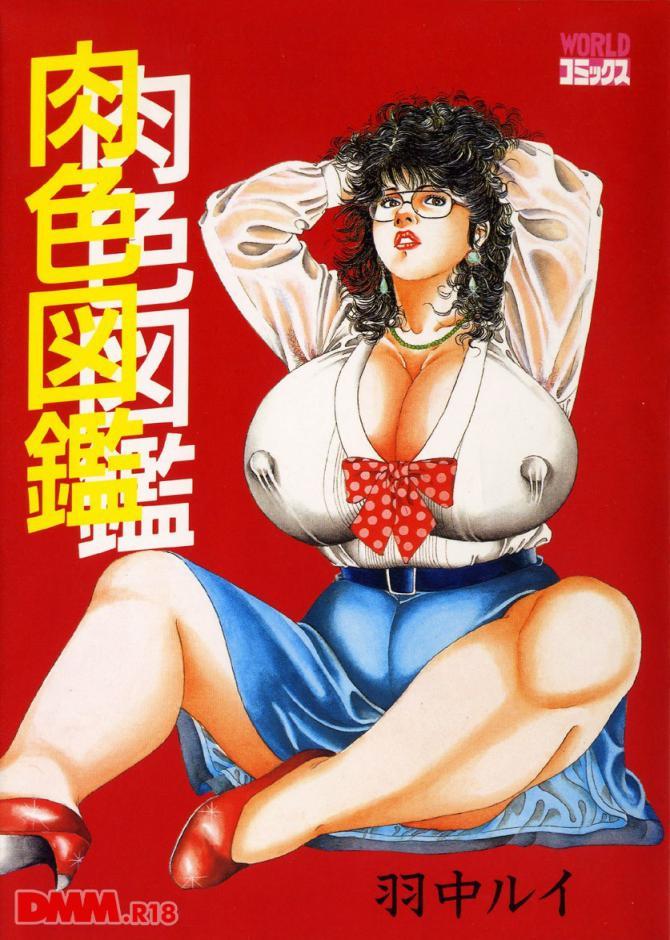 羽中ルイさんのアダルト劇画「肉色図鑑」の表紙