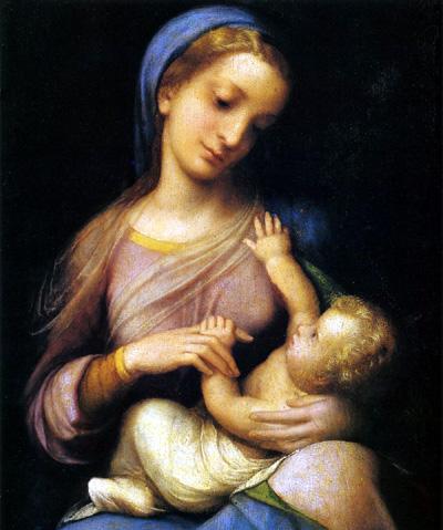 コレッジョ/聖母子