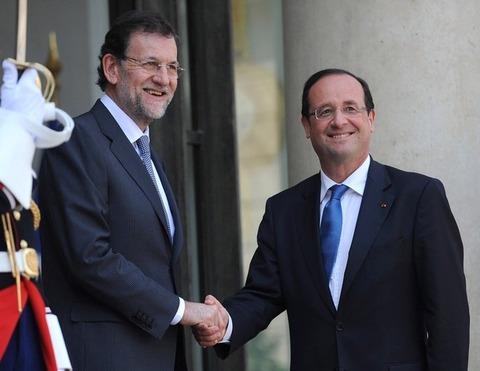 仏オランド大統領_スペイン・ラホイ首相