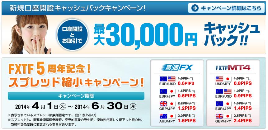 FXTF3万円キャッシュバック2
