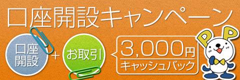 FXプライム口座開設3000円キャンペーン
