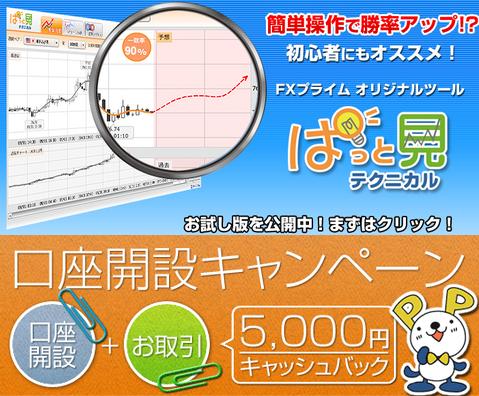 fxプライム5000円キャッシュバック3