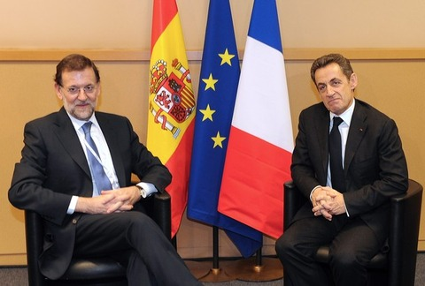 サルコジ大統領_スペイン・ラホイ首相