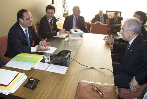 オランド大統領_モンティ首相