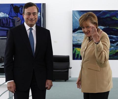 メルケル首相_ドラギ総裁