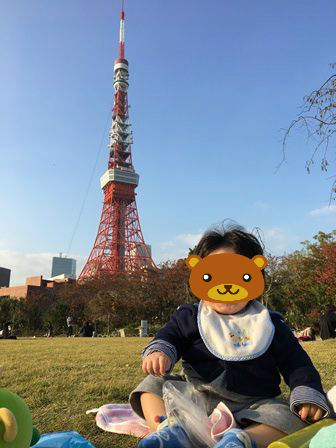 東京タワーと晴