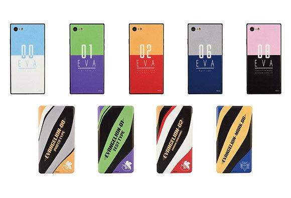 バンダイより、エヴァ仕様のiPhone用スクエアガラスケース、 USB出力リチウムイオンポリマー充電器が登場