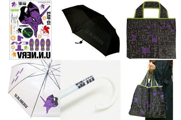 エヴァストア、6月1日から「レインフェア 濡れちゃダメだ。」開催 「NERV折りたたみ傘」「ステッカー」「マルチトート」が登場