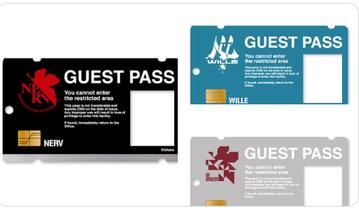 【なりきりアクリルパスケース】にNERVやWILLEのゲストパスケースが登場
